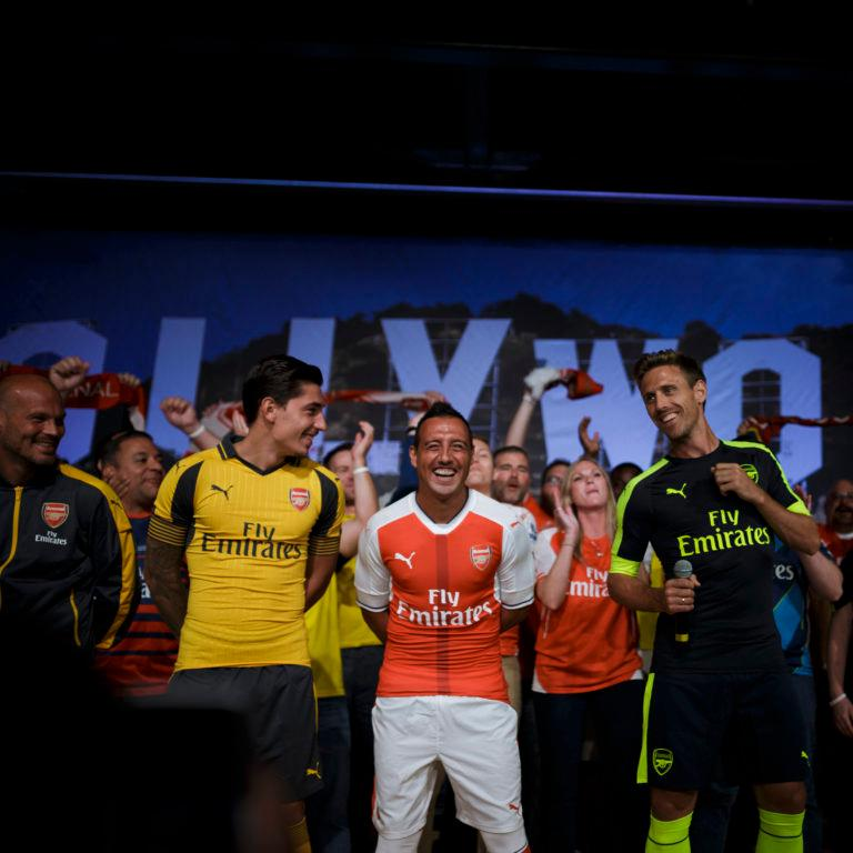 Behind the scenes at the 16 17 PUMA Arsenal Away and Third Launch 2ed851fb5