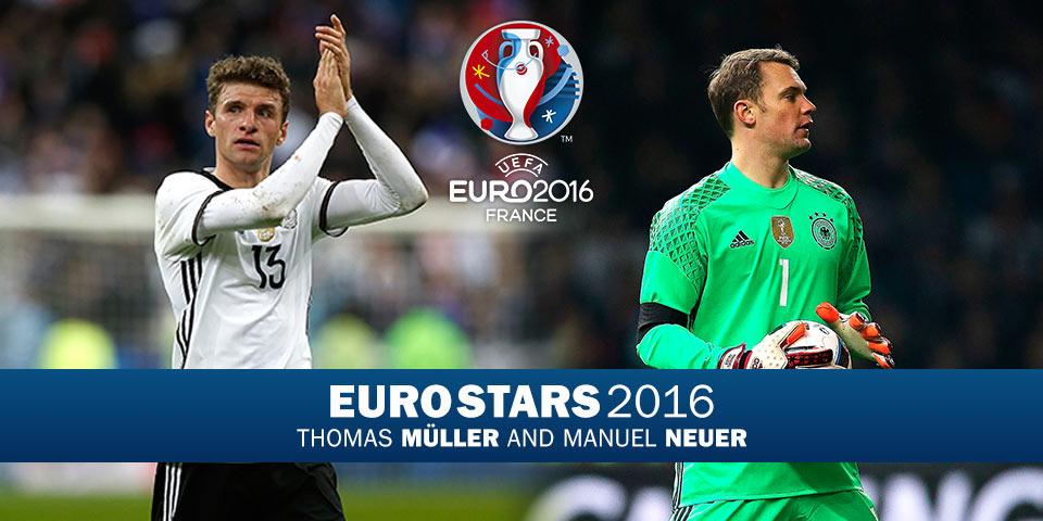 de43ac97c83 EURO Stars: Bayern's German Neuer and Muller