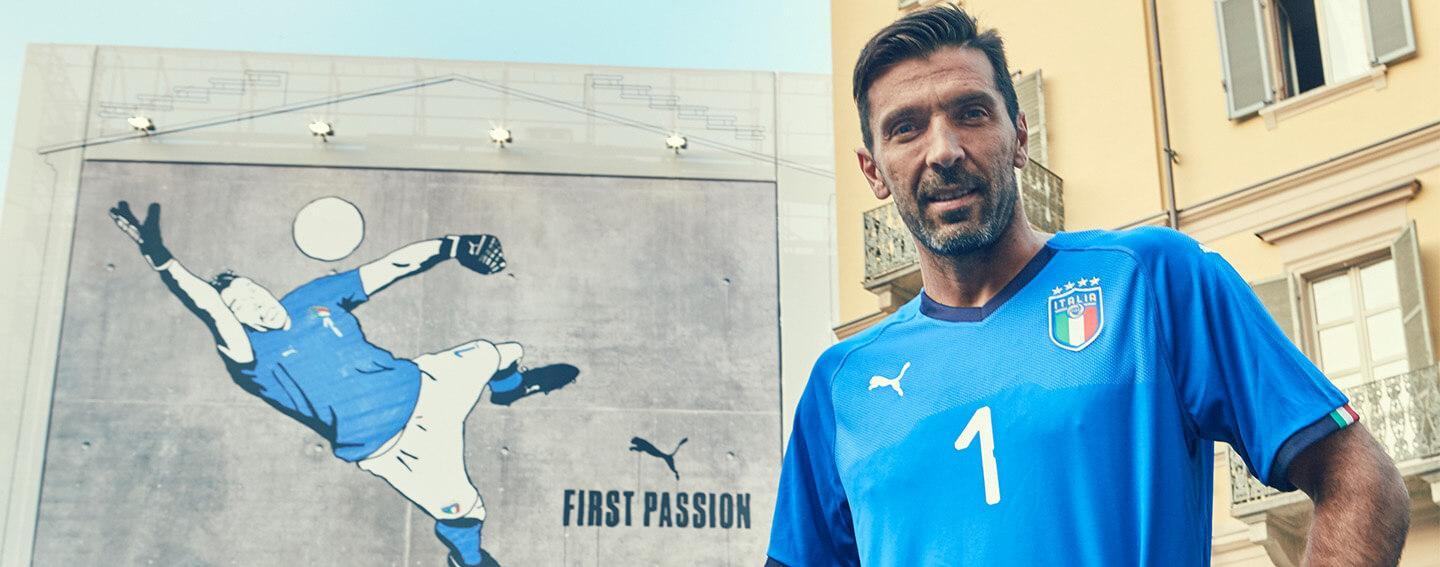Gianluigi Buffon launches the 2018 PUMA Italy Home Jersey