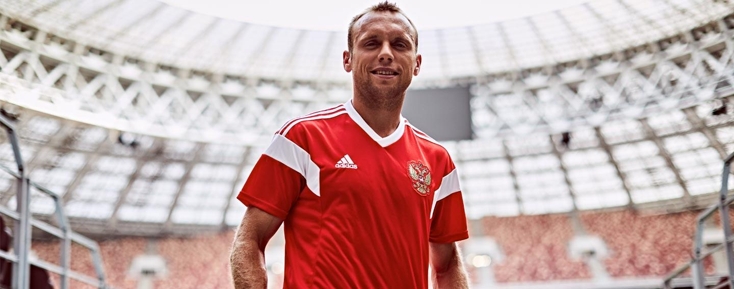 adidas launches 2018 Russia home jersey