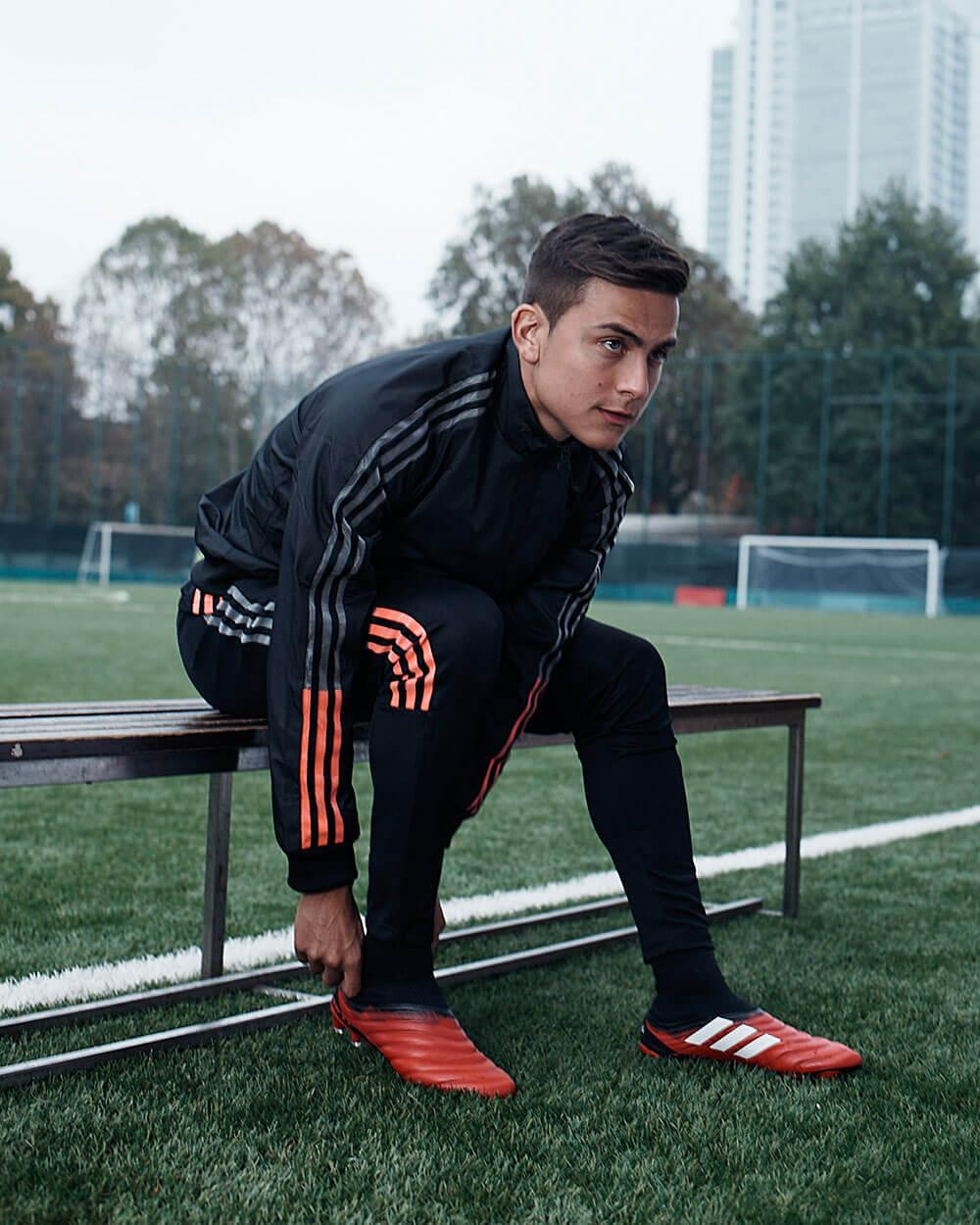 Paulo Dybala in his new adidas Copa 20 boots