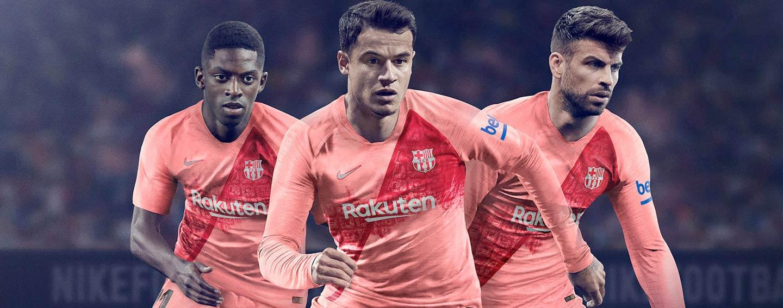 meet 544a6 db3a4 2018-19 Nike FC Barcelona Third kit revealed