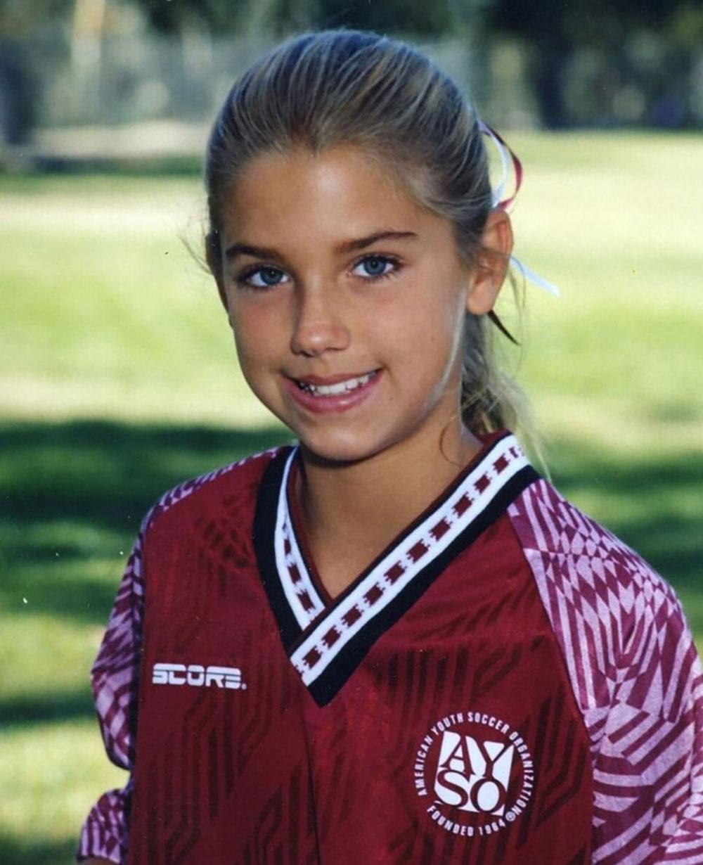 Alex Morgan in her AYSO youth soccer days