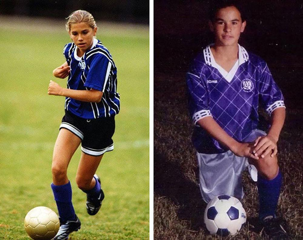 Alex Morgan and Landon Donovan in their AYSO youth soccer days