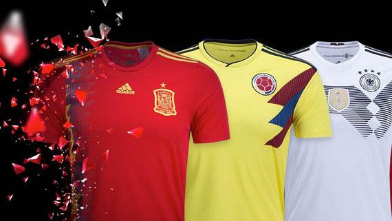 ce9366d63c3 adidas reveals 2018 Germany, Spain, Argentina, Colombia, Belgium and Japan home  jerseys. November 6, 2017 in 2018 FIFA ...