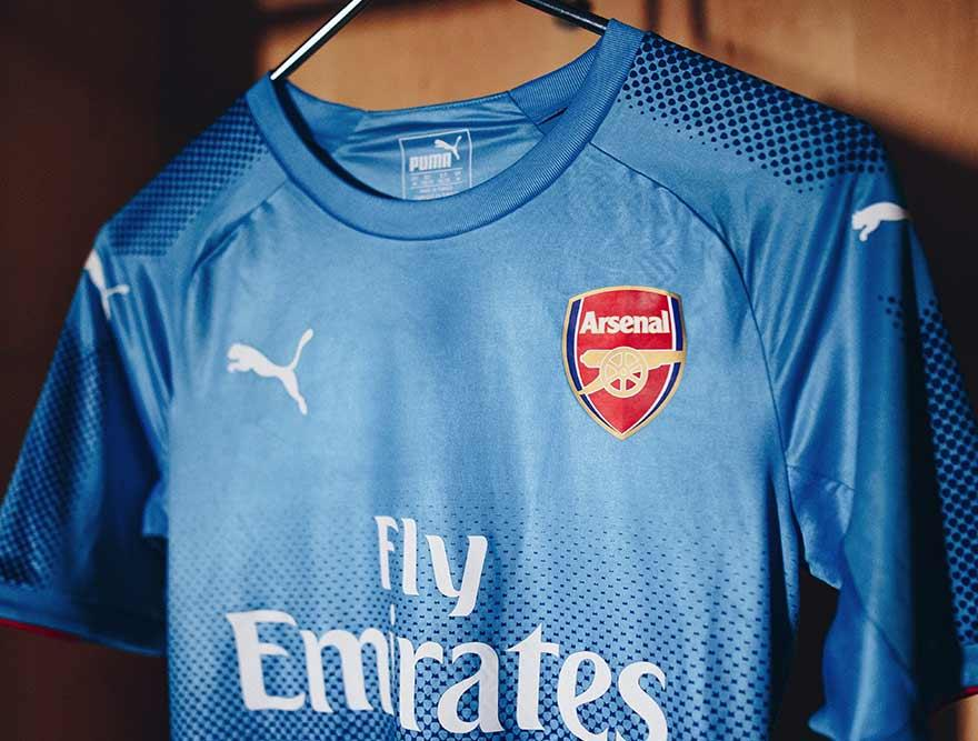 a751f3764 The inspiration for the new away jersey stems from blue colors of the  Arsenal badge
