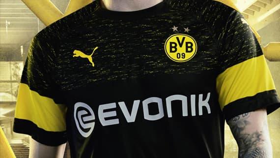 5b8f03f00 2018-19 PUMA Borussia Dortmund Away kit arrives with style