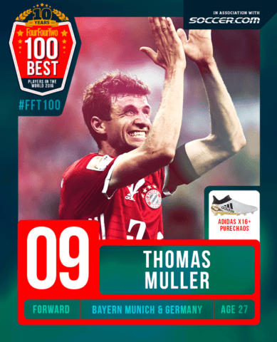 31ccc43cc62 FFT's take:While Muller's had a slow start to the current campaign, his 32  goals in 2015/16 made it his most prolific season yet. SOCCER.