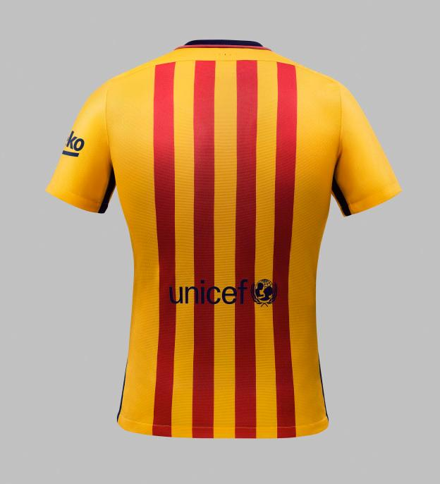 964a205a9bf ... home shirt with Blaugrana trim.  NIKE_SU15_FCB_CLUB_KIT_YELLOW_078_HFR1_original-1