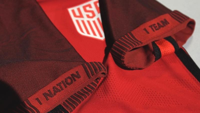 2017 US Soccer Red Jersey rel sleeves