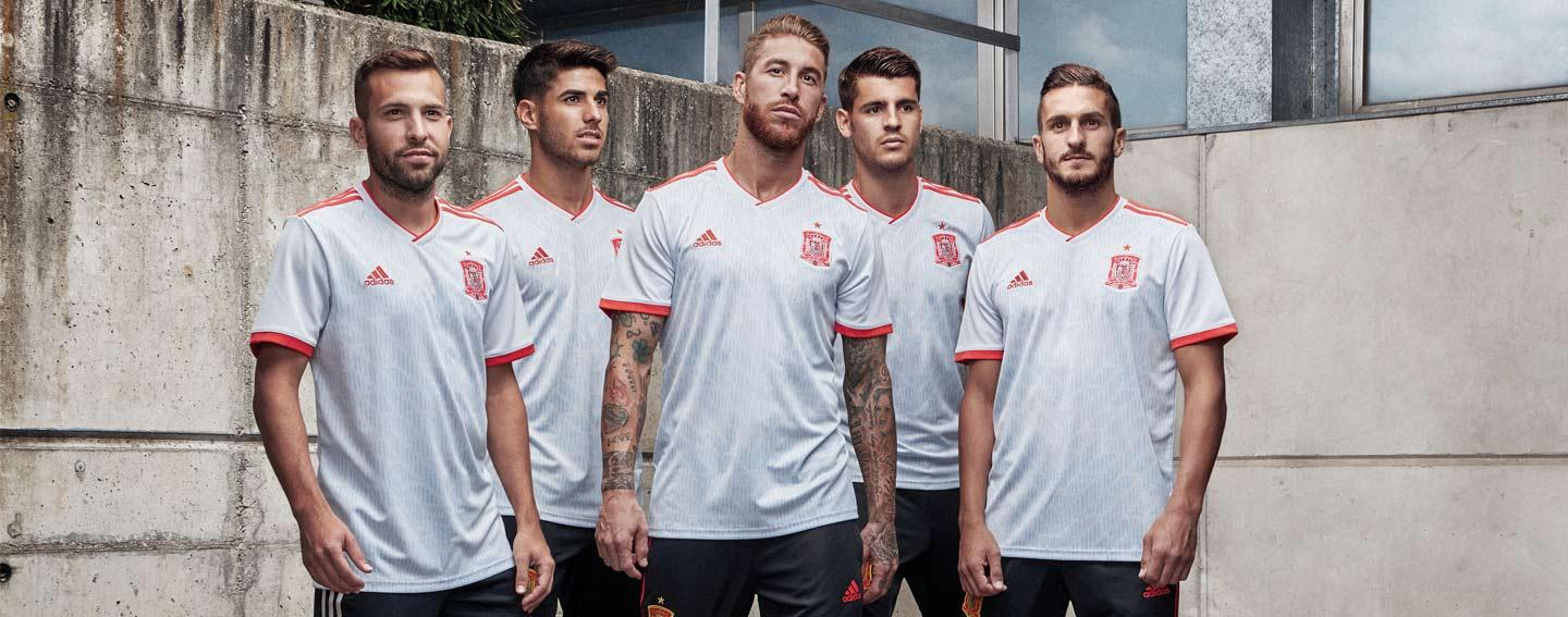 0cdde4718 SOCCER.COM reveals 2018 adidas Spain home and away World Cup jerseys