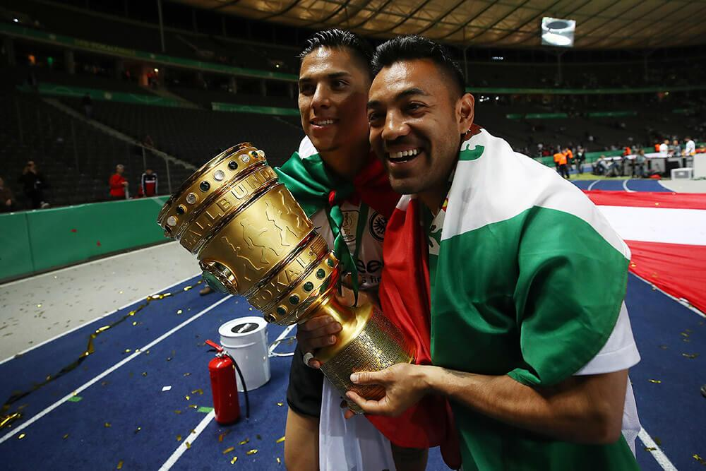 Marco Fabian won the DFB-Pokal while in Frankfurt