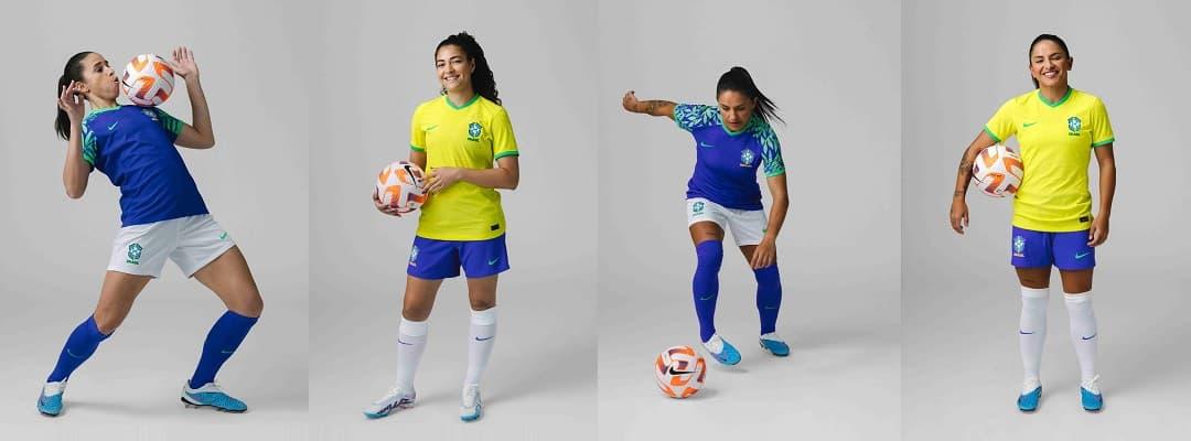 4641c4466fd Brazil Men s National Team Soccer Jerseys