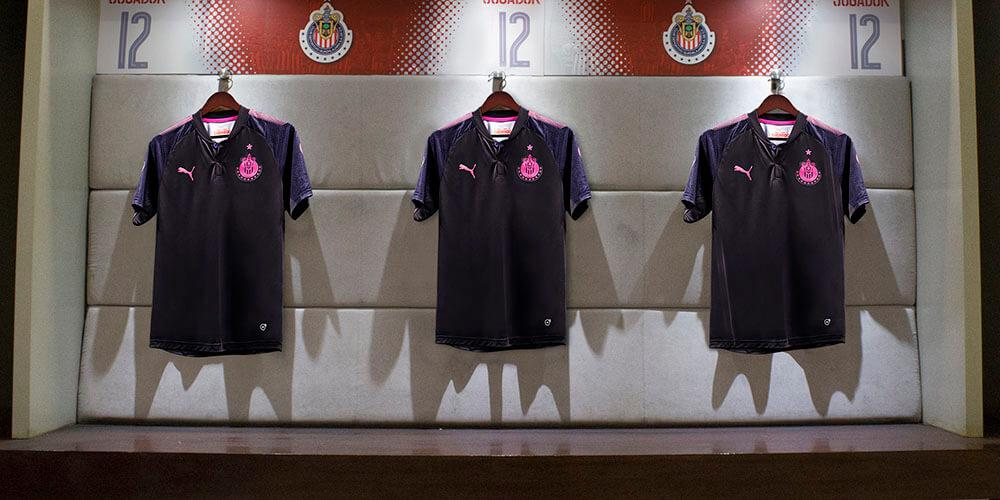 buy popular c65ee 49322 PUMA Project Pink Chivas Jersey Launched