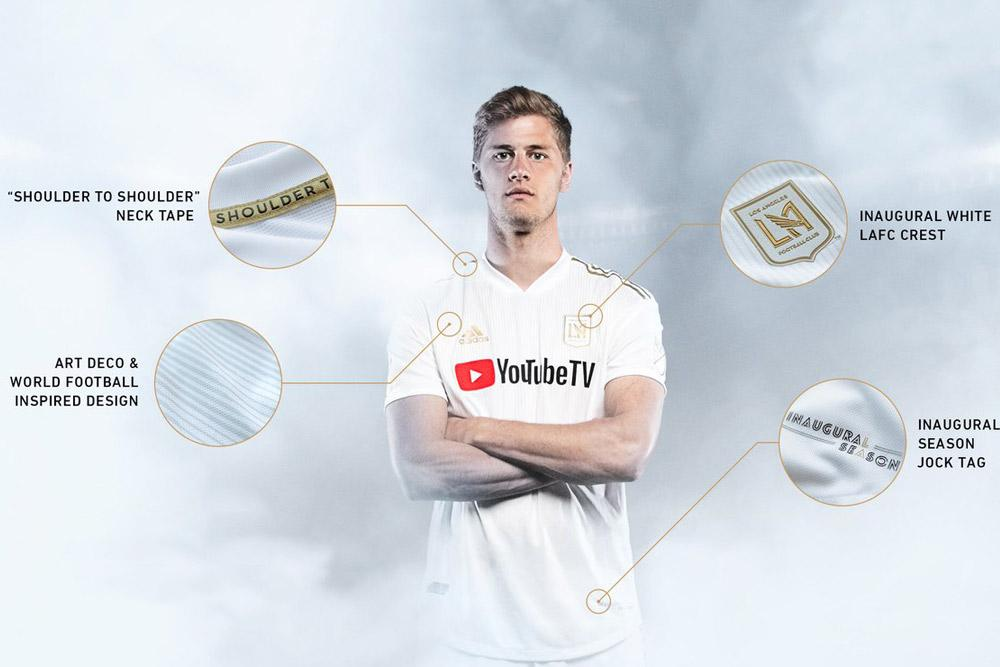 LAFC 2018 adidas MLS away jersey