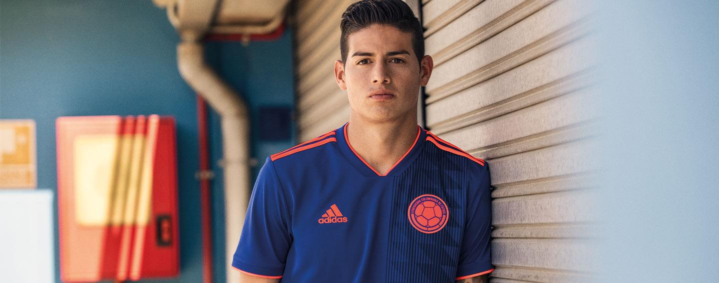 2018 adidas Colombia away World Cup jerseys