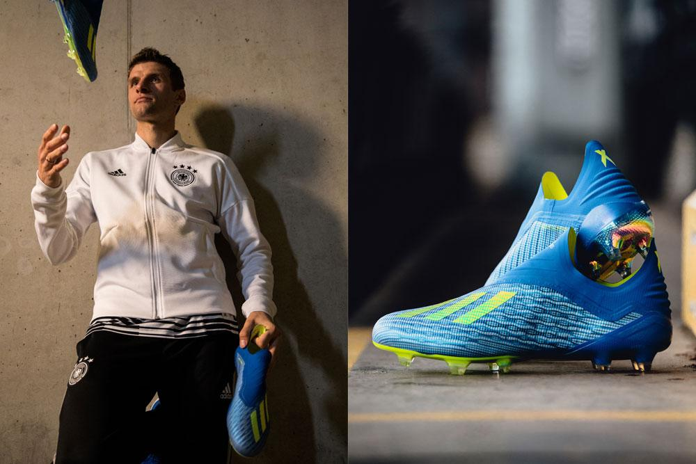706efee0820 adidas World Cup star players slip into the new X 18+ Purespeed on ...