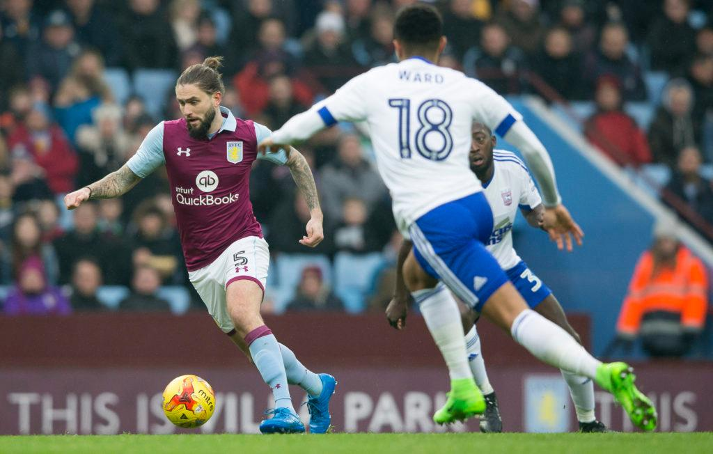 BIRMINGHAM, ENGLAND - FEBRUARY 11: Henri Lansbury of Aston Villa during the Sky Bet Championship match between Aston Villa and Ipswich Town at Villa Park on February 11, 2017 in Birmingham, England. (Photo by Neville Williams/Aston Villa FC via Getty Images)