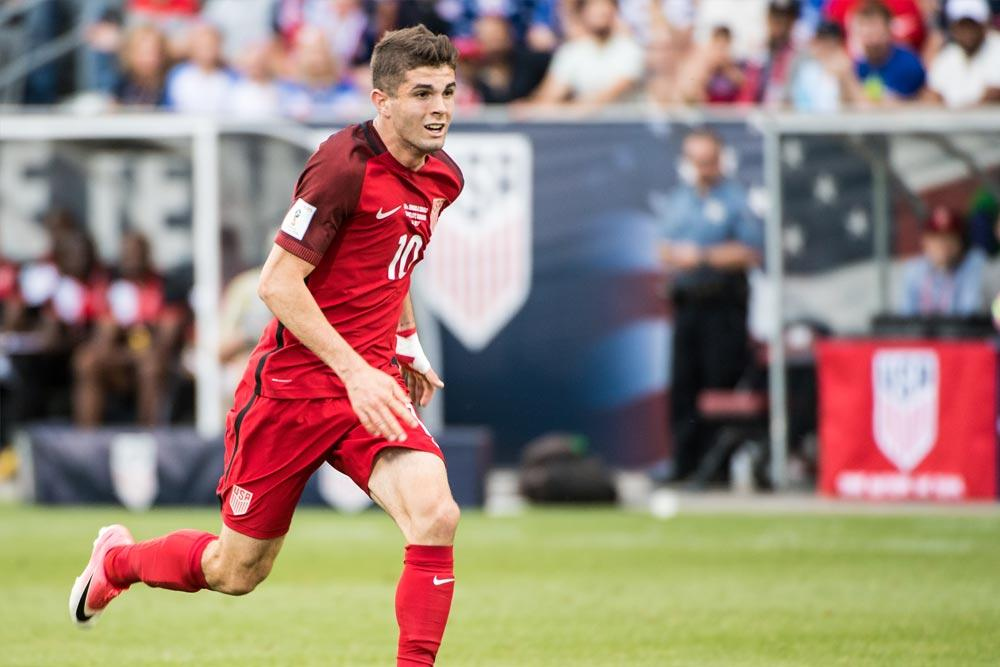 Christian Pulisic of the USMNT