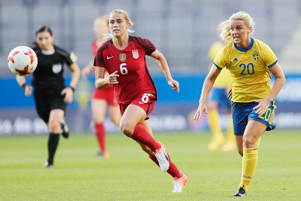 Abby Dahlkemper earns her third cap for the USWNT against Sweden.