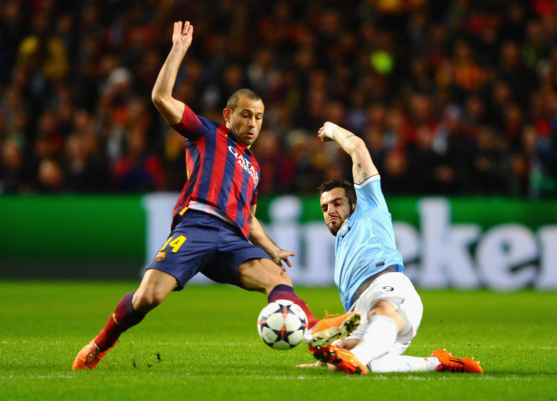 Barcelona Vs Manchester City Logo: Champions League Tough Tacklers