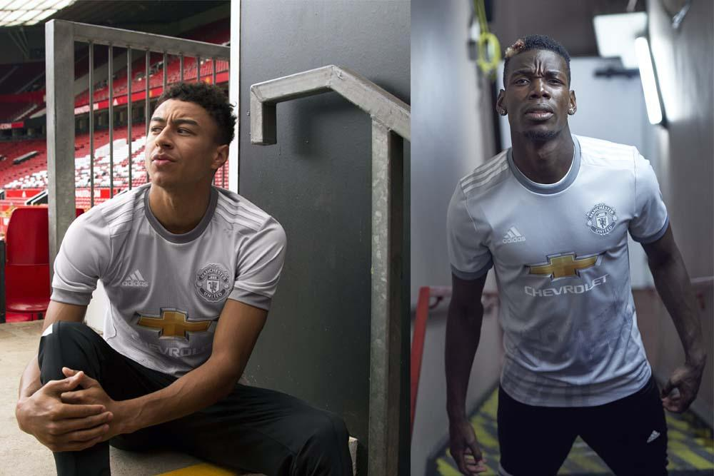 2017-18 adidas Manchester United third jersey worn by Jesse Lingard and Paul Pogba