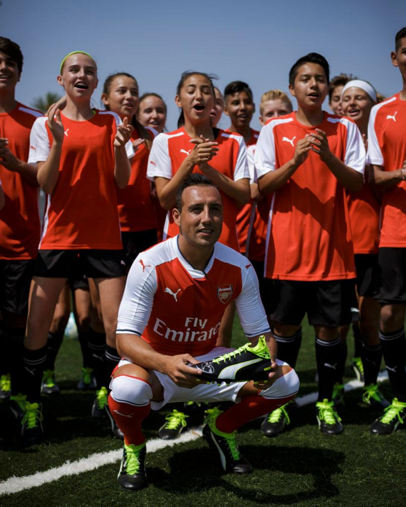 ad8ffa5af1c That photo of Cazorla and his newfound friends will be one the players  cherish forever after they were granted the rare chance to learn straight  from the ...