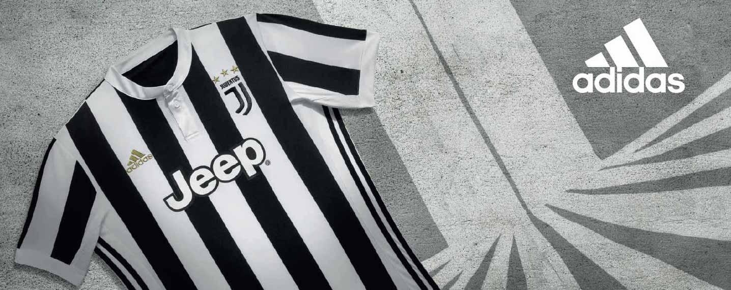 The 2017-18 adidas Juventus home jersey.