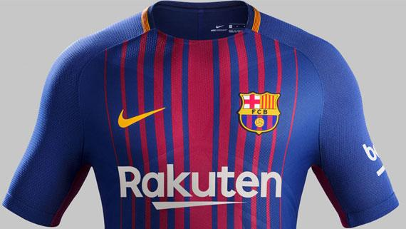 2017-18 FC Barcelona home jersey