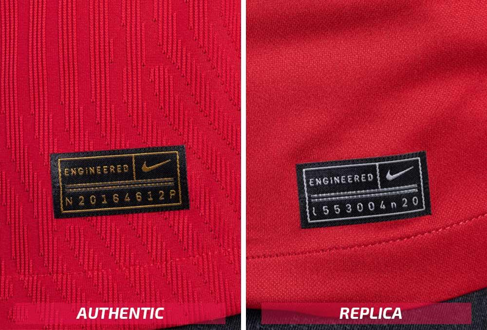 Nike Barcelona authentic and replica tags