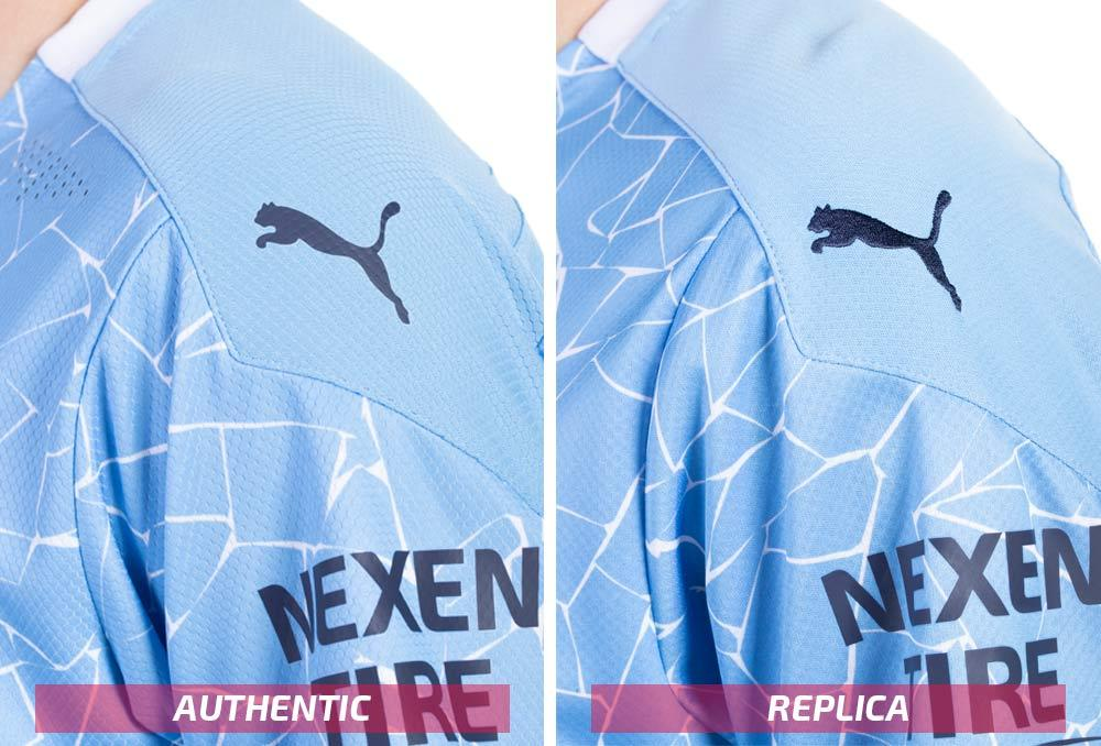 PUMA Manchester City authentic and replica sleeves