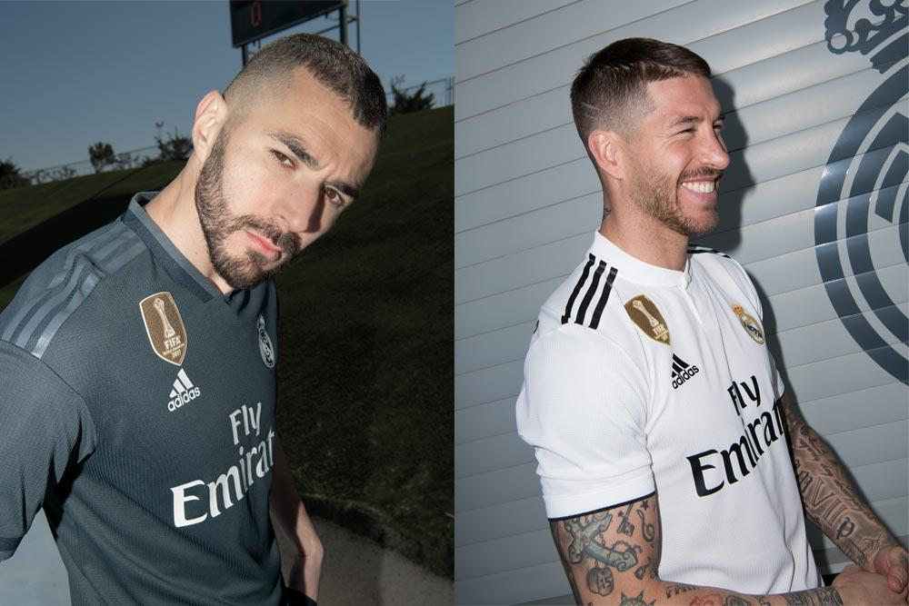 adidas Real Madrid 2018/19 home away jerseys