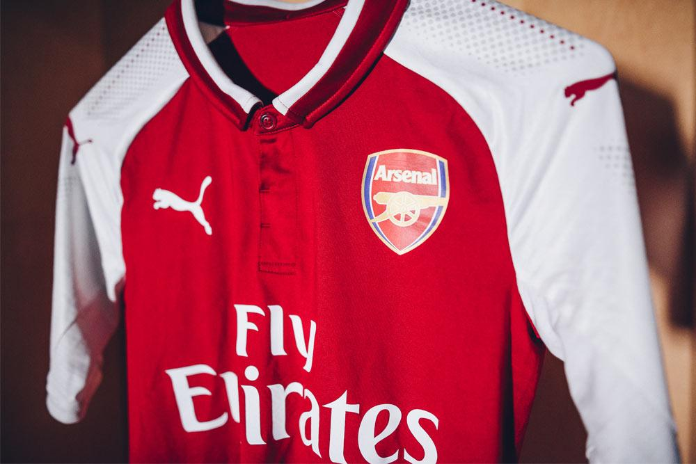2017-18 PUMA Arsenal home jersey launches 45add1ed1