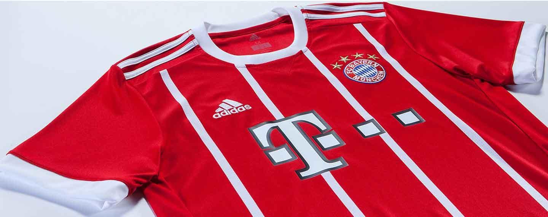 d92adff6 2017-18 adidas Bayern Munich home jersey revealed