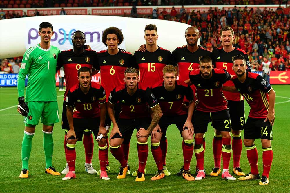 1ea7ef685 Belgium play in a kit that is predominantly red and black with yellow trim