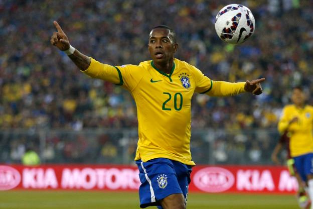 Stock during the match Brazil vs Venezuela, Corresponding of the group -C- of XLIV Copa America Chile 2015 at Monumental stadium, Santiago, Chile, in the photo: Robinho of Brazil Stock durante el partido Brasil vs venezuela, Correspondiente al grupo -C- de la XLIV Copa America Chile 2015 en el estadio Monumental, Santiago, Chile, en la foto: Robinho de Brasil 21/06/2015/PHOTOSPORT/Andres Pina/MEXSPORT.