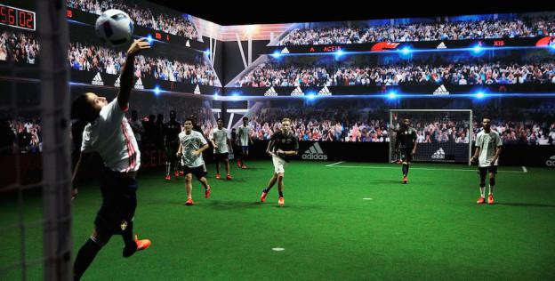 PARIS, FRANCE - NOVEMBER 12: A general view of the party inside the Future Arena during the launch of the Official Match Ball of the UEFA 2016 Euro Championship(TM) Beau Jeu at the Future Arena on November 12, 2015 in Paris, France. (Photo by Adam Pretty/Getty Images)