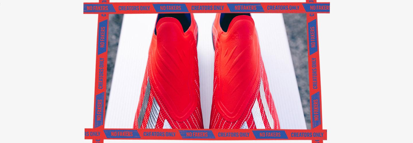 Red adidas X 18+ Firm Ground Soccer Cleat