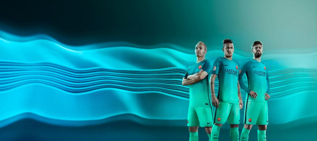 9068305a8f5 Nike lifts curtain on 2016 17 FC Barcelona Third Jersey