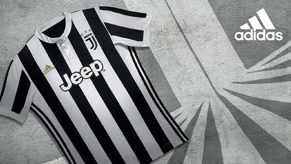 The 2017-18 adidas Juventus home jersey