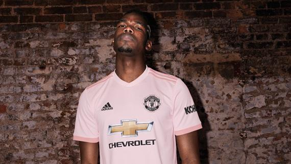 71f8fb3f4ea Pink is in  introducing the Manchester United 2018 19 away jersey