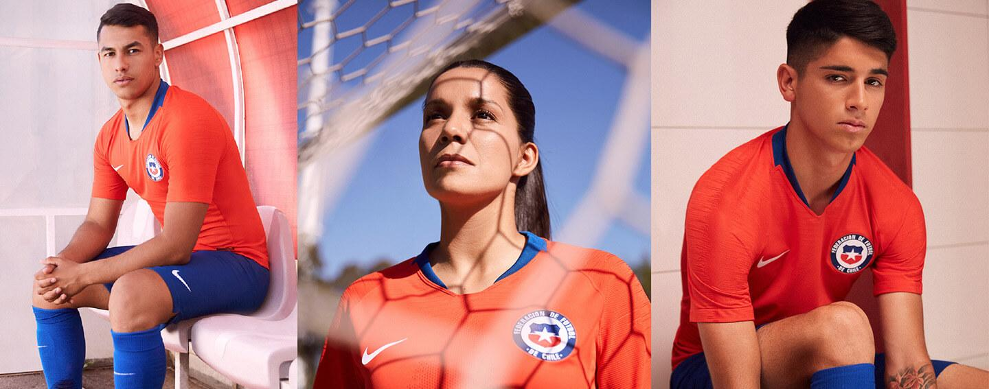 2018 Nike Chile home and away jerseys