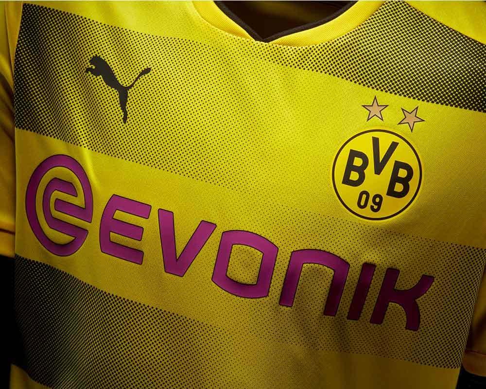 2d46b54d0 2017-18 PUMA Borussia Dortmund home jersey launches
