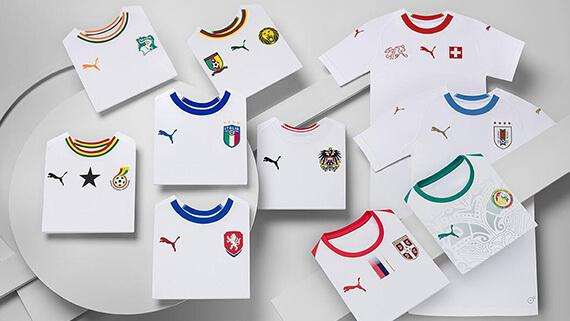 05fbb9a95d6 PUMA reveals white 2018 World Cup and national team kits