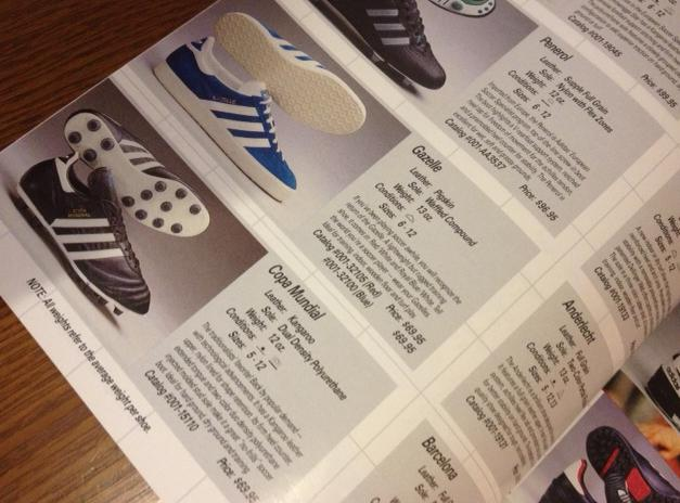 1988 Eurosport Catalog featuring the adidas Copa Mundial