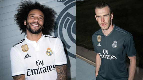 adidas Real Madrid 2018/19 home and away jerseys