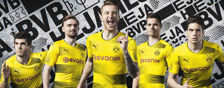 ee81e64c0 2017-18 PUMA Borussia Dortmund home jersey launches