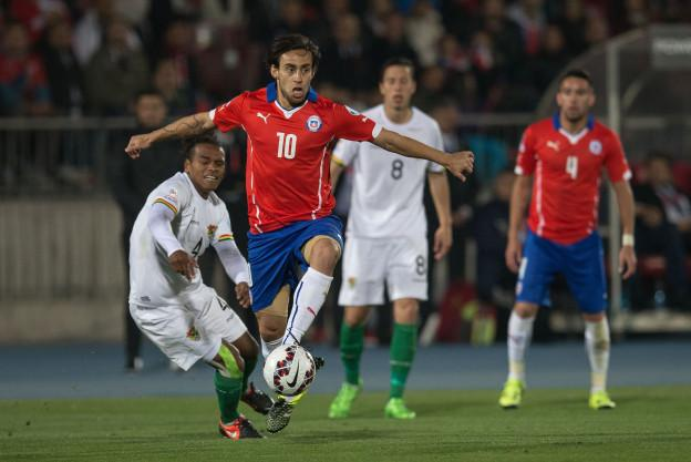 Action photo during the match Chile vs Bolivia, the match Copa America Chile 2015, in the photo: Jorge Valdivia Foto de accion durante el Partido Chile vs Bolivia, Partido Correspondiente al Grupo A de la fase de grupos de la Copa America de Chile 2015, en la Foto: Jorge Valdivia 19/06/2015/MEXSPORT/ FOTOARENA Estadio Nacional Julio Martinez Pradanos