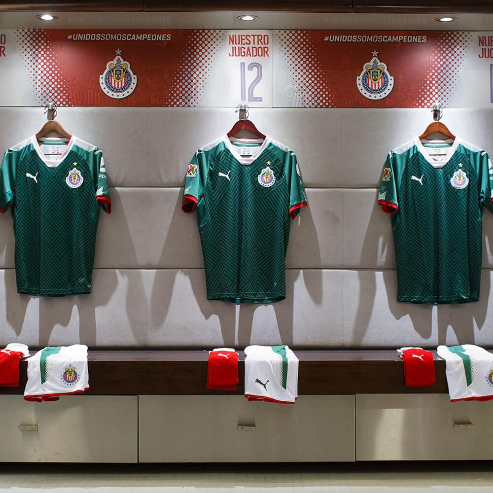 new product a26dd 821b5 PUMA launches Mexico-inspired 17-18 Chivas Third Jersey