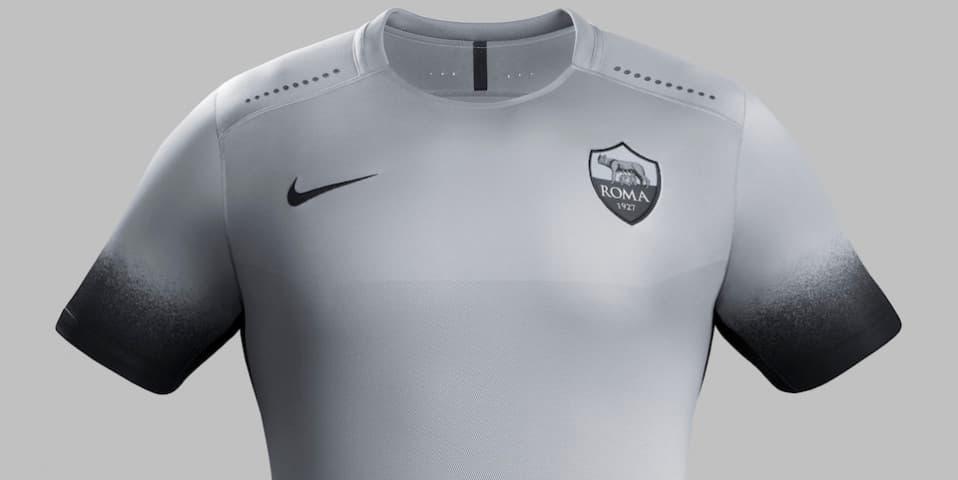 "0e9c3f2d1ba8 Nike AS Roma Third gets ""Night Rising"" treatment"